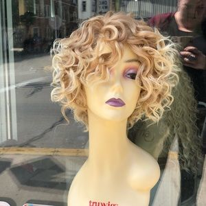 Accessories - Curly short bob blonde mix 27/613 lace wig 2020